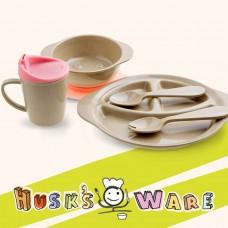 美國 Husk'sWare 兒童稻殼餐具五件組 水蜜桃