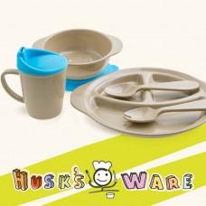 美國 Husk'sWare 兒童稻殼餐具五件組 天空藍