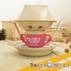 美國 Husk'sWare 兒童稻殼餐具六件組 水蜜桃