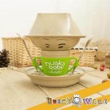 美國 Husk'sWare 兒童稻殼餐具六件組 蘋果綠