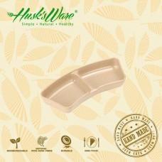 美國Husk'sWare稻殼餐具 質感雙格筷架醬料碟
