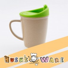 美國Husk'sWare兒童稻殼學習杯 蘋果綠