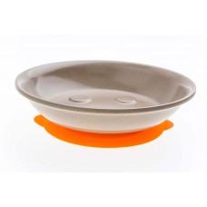 美國Husk'sWare兒童稻殼笑臉碗(寬口)  香橙橘