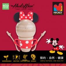 美國Husk'sWare稻殼餐具迪士尼米妮星球造型餐具組