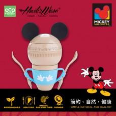 美國Husk'sWare稻殼餐具迪士尼米奇星球造型餐具組